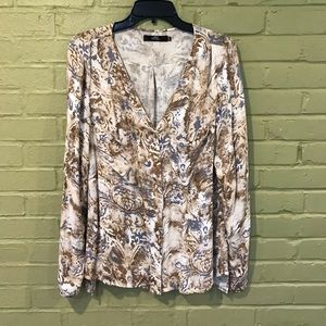 BKE Gold and Silver Cardigan